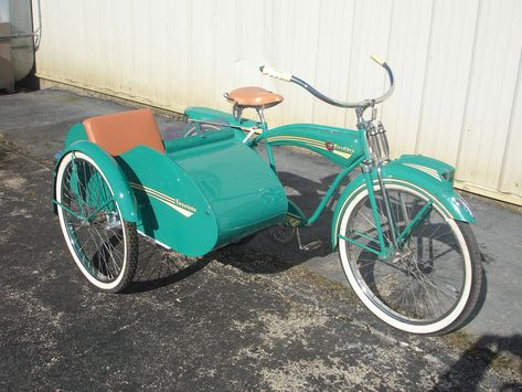 Firestone bicycle with sidecar - decoration, handicrafts, interior furnishings - Fahrrad - Firestone bike with sidecar - Velo Beach Cruiser, Cruiser Bicycle, Trike Bicycle, Retro Bikes, Velo Design, Bicycle Design, Velo Vintage, Vintage Bicycles, Cool Bicycles