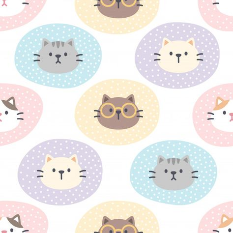 Cute bear with baby mouse illustration seamless pattern Diy Galaxy Jar, Hipster Accessories, Fashion Accessories, Cute Animal Illustration, Mouse Illustration, Cute Baby Cats, Cat Pattern, Vector Pattern, Kawaii Doodles