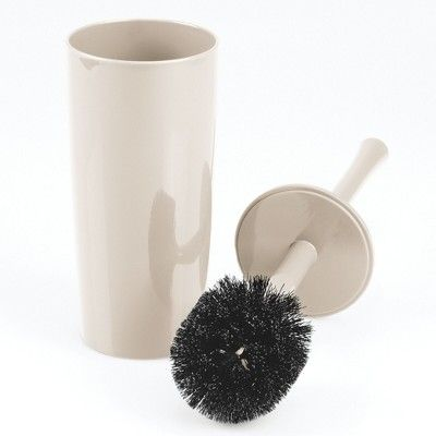 Mdesign Slim Modern Compact Plastic Toilet Bowl Brush And Holder Cream Beige In 2020 Toilet Bowl Brush Toilet Bowl Toilet Brush