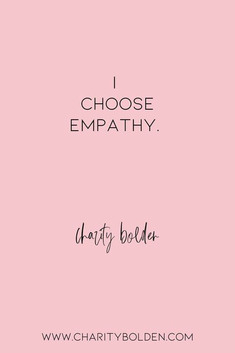 How are you with empathy? Where can you grow in this? Click for more at www.charitybolden.com for topics like: joy, waiting, prayer, spiritual formation, growth, God, identity and soul care.#spiritualjourney #spiritualgrowthquotes #journeyquote #waitingquotes #godishealer #griefquotes #griefjourney #godsvoice #hopequote #godquote #godslove #healingspace #listenforgod #bestillandknow #bestill #anotherslens #stillnessquotes #mentalhealth #quietyourlife #moreempathy #empathyquote #othersoriented