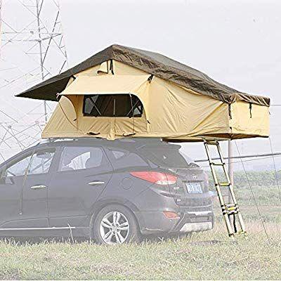 Amazon Com Reliancer Ranger Overland Rooftop Tent Outdoor Camping Suv Roof Top Tent For 3 Person Rainproof Watrerproof Car Sun S Top Tents Roof Top Tent Tent