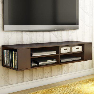 South Shore City Life 48 Floating Tv Stand Finish Chocolate