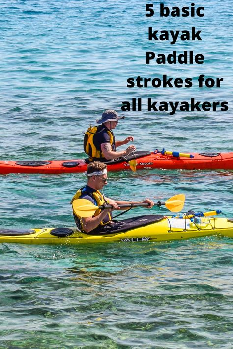 What is the correct way to paddle your kayak. Knowing the basic types of kayak paddle strokes will help you have a great adventure. The more strokes one knows, the more your going to enjoy kayaking. Kayak Boats, Kayak Camping, Kayak Fishing, Canoes, Kayaks, Ice Fishing, Kayaking Quotes, Kayaking Tips, Whitewater Kayaking