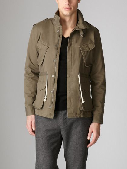 Dig The Drawstring M65 Jacket Jackets Shades Of Grey