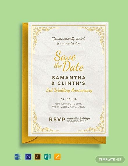 Anniversary Invitation Card Template Free Pdf Word Psd Apple Pages Illustrator Publisher Wedding Invitation Card Template Anniversary Invitations Printable Wedding Invitations