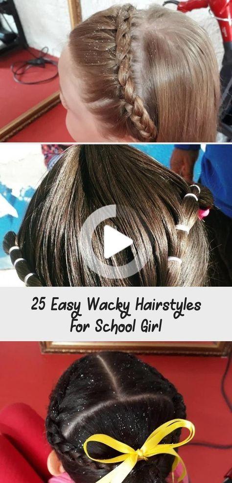 25 Facile Wacky Coiffures pour School Girl - Coiffure 25 facile Wacky Coiffures pour l'école Gi ... # facile #girl #hairstyle #hairstyles #school # loufoque # facile #gieasy #girl #hairstyle #hairstyles #school #wacky #coiffuresfaciles
