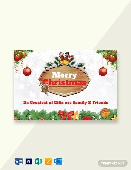 Free Merry Christmas Greeting Card Template Word Doc Psd Apple Mac Pages Publisher Outlook Merry Christmas Card Greetings Christmas Greeting Card Template Merry Christmas Greetings