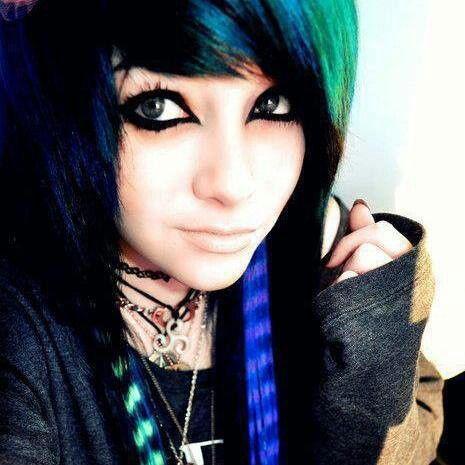 Inspiring image black hair, green eyes, emo, girl, gorgeous ...
