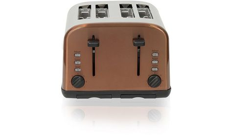 George Home 4 Slice Toaster With Black Controls Various