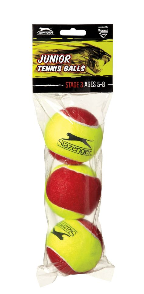 Slazenger Youth Stage 3 Tennis Balls A 3 Ball Pack Tennis Balls 3 Balls Tennis