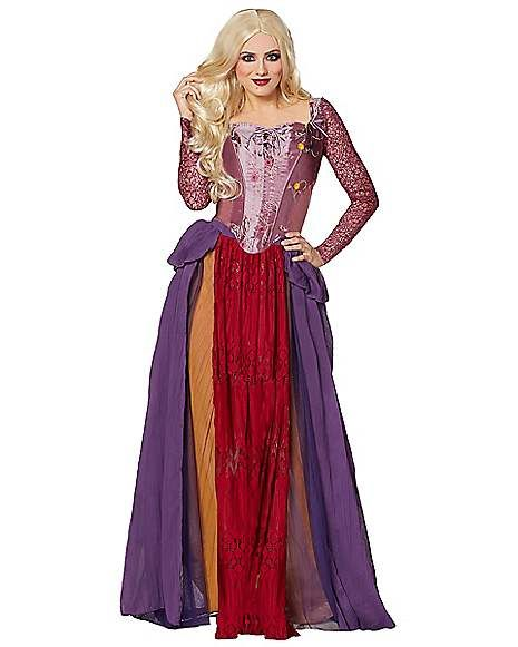Disney Hocus Pocus Winifred Sarah Mary Sanderson witch Halloween costume