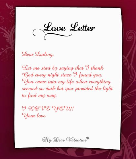 Wonderful letter for her.