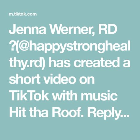 Jenna Werner, RD 🍓(@happystronghealthy.rd) has created a short video on TikTok with music Hit tha Roof. Reply to @user46040759 YOU WERE RIGHT! These were unreal #airfry #airfryer #airfryerrecipe #healthy #healthyrecipes #dietitian #TikTokFanFest #health