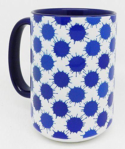 The Blue Ink Splat Mug Extra Large With Gl