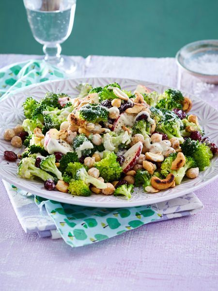Lukewarm Broccoli Salad Recipe | DELICIOUS -  Our lukewarm broccoli salad with chickpeas and apples provides you with new power for the week. #ve - #bestHealthyRecipes #broccoli #delicious #HealthyRecipesfitness #HealthyRecipesfortheweek #HealthyRecipesnomeat #HealthyRecipessalmon #HealthyRecipessweet #Lukewarm #Recipe #Salad