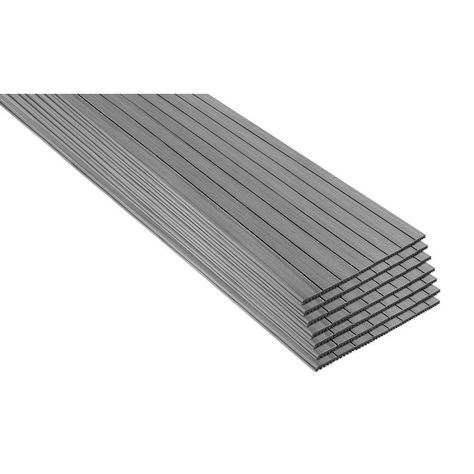 Trex Enhance Naturals 16 Ft Foggy Wharf Grooved Composite Deck Board Fw010616e2g56 In 2020 Composite Decking Deck Colors