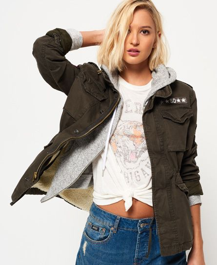 Superdry Winter Rookie Military Patch Jacket | Products