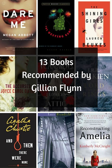 Loved Gone Girl? Here 13 books recommended by Gone Girl author Gillian Flynn