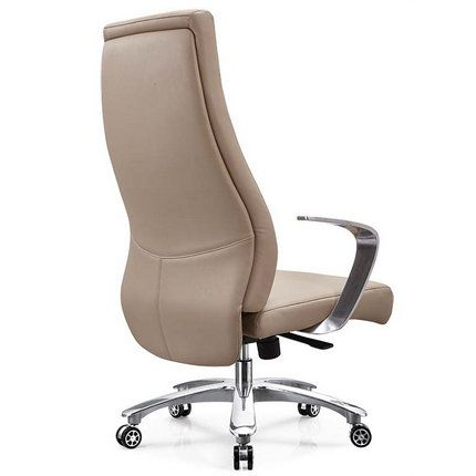 Foshan Brown Leather Height Adjustable Manager Office Chairs China