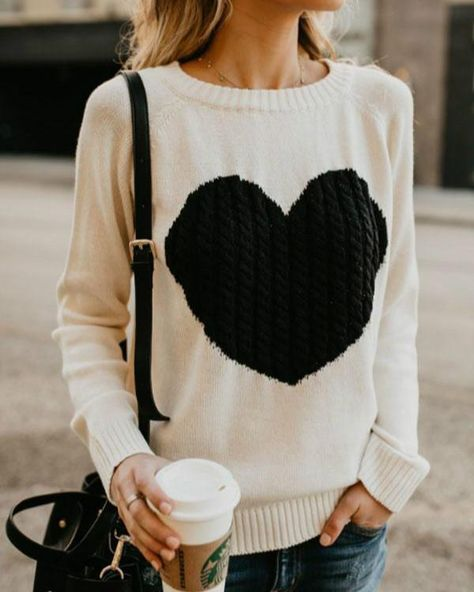 a9bfe55448 Round Neck Heart Sweaters – lalasgal