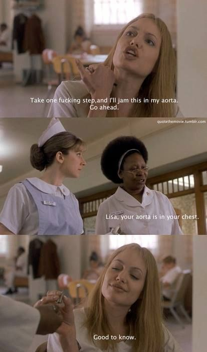 Girl, Interrupted (The only Jolie movie I enjoyed.)