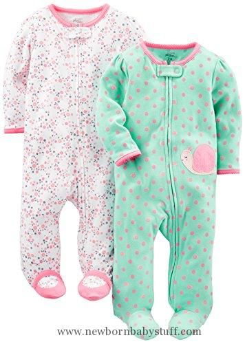 8a4cca056 Baby Girl Clothes Simple Joys by Carter s Baby Girls  2-Pack Cotton ...