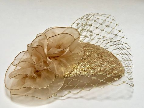 2430e9fd Excited to share the latest addition to my #etsy shop: Metallic Gold  Fascinator with Gold Veil