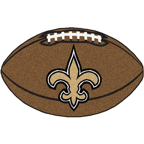 <li>Area rug by Fanmats features a New Orleans Saints football design <li>Football-shaped rug is the perfect way to show your team spirit <lI>Chromojet-painted in true team colors, floor rug is perfect for the die-hard New Orleans Saints fan