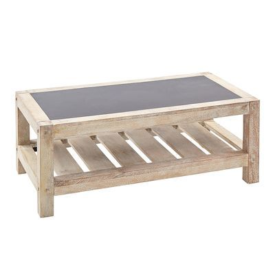 Vermont Gray Whitewashed Rectangle Coffee Table Coffee Table