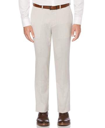 MENS POLYESTER VISCOSE STRETCH PANTS FLEXI WAIST Suit Seperates Chinos Office