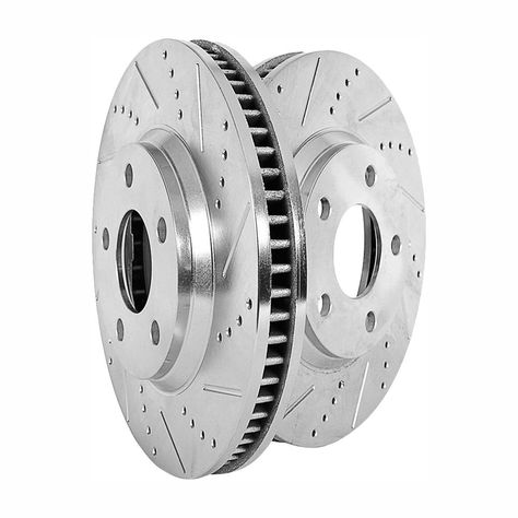 Power Stop Rear Extreme Performance Drilled & Slotted Brake Rotors fits 2012-2015 Jeep Grand Cherokee