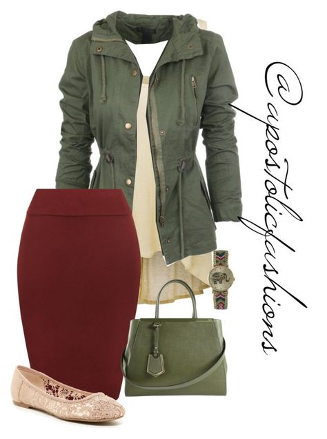 A fashion look from September 2016 featuring racer back tank tops, pencil skirts and flat shoes. Browse and shop related looks. Arab Fashion, Cute Fashion, Look Fashion, Autumn Fashion, Fashion Outfits, Womens Fashion, Fashion Trends, Ski Fashion, Sporty Fashion