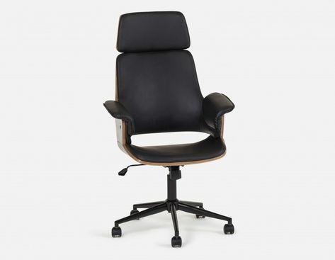 Fauteuil bureau noir chaise sofa avec palette chaise bureau design