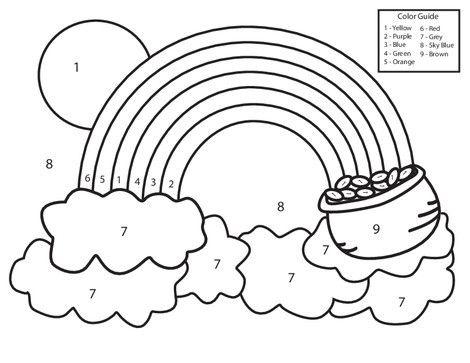 Color By Number Rainbow Worksheet Education Com Preschool Worksheets Free Printables Free Preschool Worksheets Kindergarten Colors