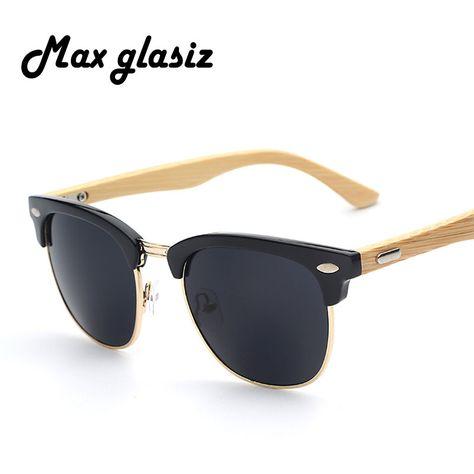 2016 Nieuwe merk designer bamboe zonnebril hout voor vrouwen mannen vintage bril retro mens gafas oculos oculos de sol madeira