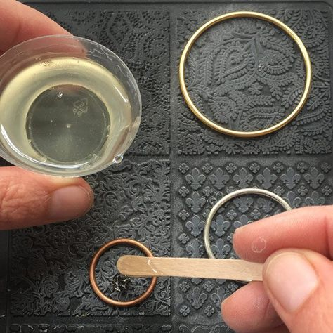 Texturized Resin in Open Frame Hoops Tutorial + Video