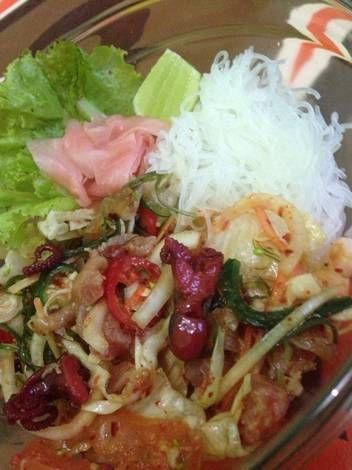 Resep Salad Seafood Pedas Spicy Seafood Salad Mulhoe Oleh Riris Jhonson Resep Resep Salad Resep Makanan Salad Seafood