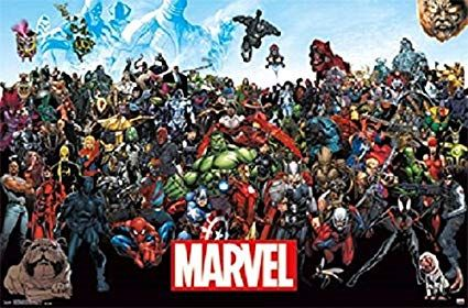 Amazon.com: Marvel Superheroes 22x34 The Avengers Poster
