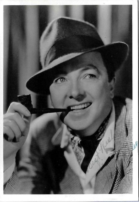 Jack Haley (Tin Man) Wizard of Oz Autographed Photo Circa 1940's Smoking pipe by…
