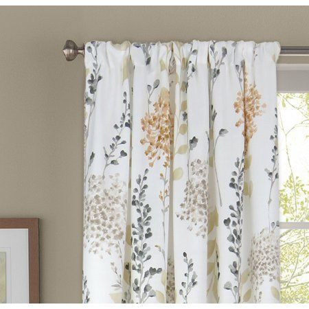 Better Homes And Gardens Hydrangea Floral Window Curtain Panel