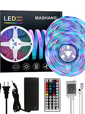 Mashang Bright Rgbw Led Strip Lights 32 8ft 10m Rgbw Tiktok Lights 2340leds Smd 2835 With 44 Keys Ir Remote Control In 2020 Led Strip Lighting Led Strip Strip Lighting