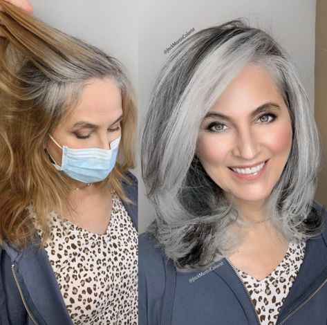 Grey Hair Old, Short Grey Hair, Short Hair Styles, Grey Hair Looks, White Hair, Silver Hair Highlights, Silver Blonde Hair, Grey Blonde Hair Color, Grey Hair Lowlights