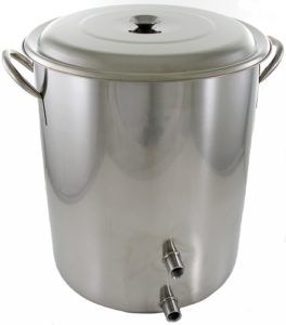 10 Gallon Stainless Steel Brew Pot W Volume Markings Two Welded Ports 79 93 With Ahs Sitewide Sale Homebrew Brewing Equipment Home Brewing Brewing
