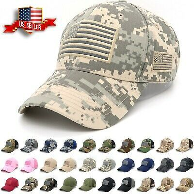 Men/'s Baseball Cap Tactical Army Cotton Military Dad Mesh Hat USA American Flag