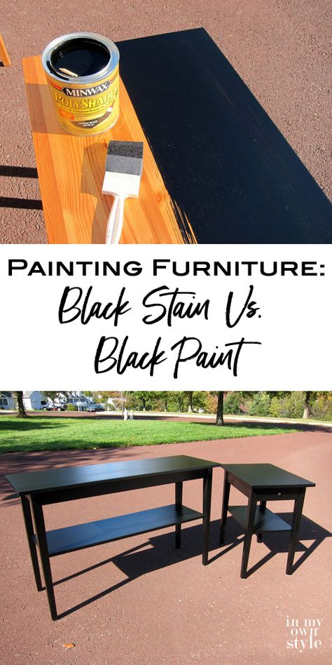 Black Stain Vs. Black Paint: The best way to paint a piece of furniture black for a seamless look.