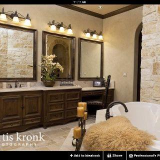 stone work   mediterranean bathroom, mediterranean