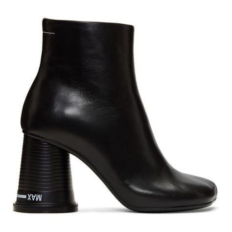 c8cc02a26d03 MM6 Maison Martin Margiela - Black  Cup to Go  Ankle Boots