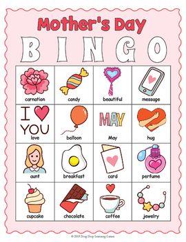 Printable Mother S Day Bingo Game Bingo Mothersday Mothersdayideas Mother S Day Games Mother S Day Activities Mothers Day Crafts