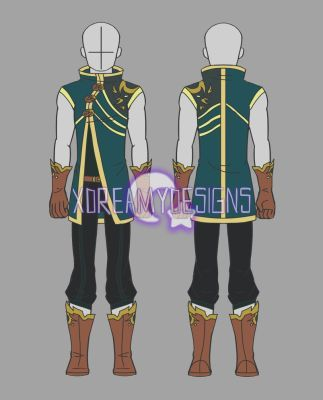 Clothing Auction Male Fantasy Outfit 3 Closed By Xdreamydesigns Fantasy Clothing Adventure Outfit Character Outfits