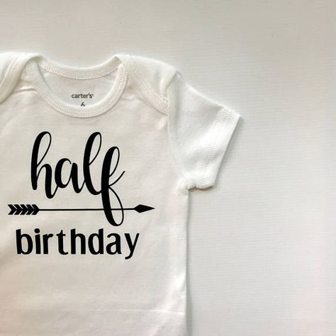 Half Birthday Outfit 1 2 Cake Smash 6 Months Old Shirt Fi